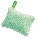 Зеленая чистящая губка с коротким ворсом