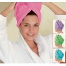 Розовое полотенце для волос